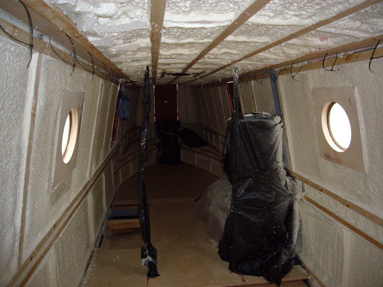 Marine spray foam insulation