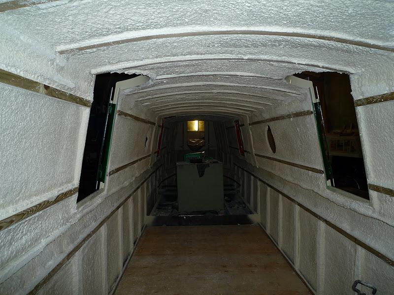 Marine spray foam insulation