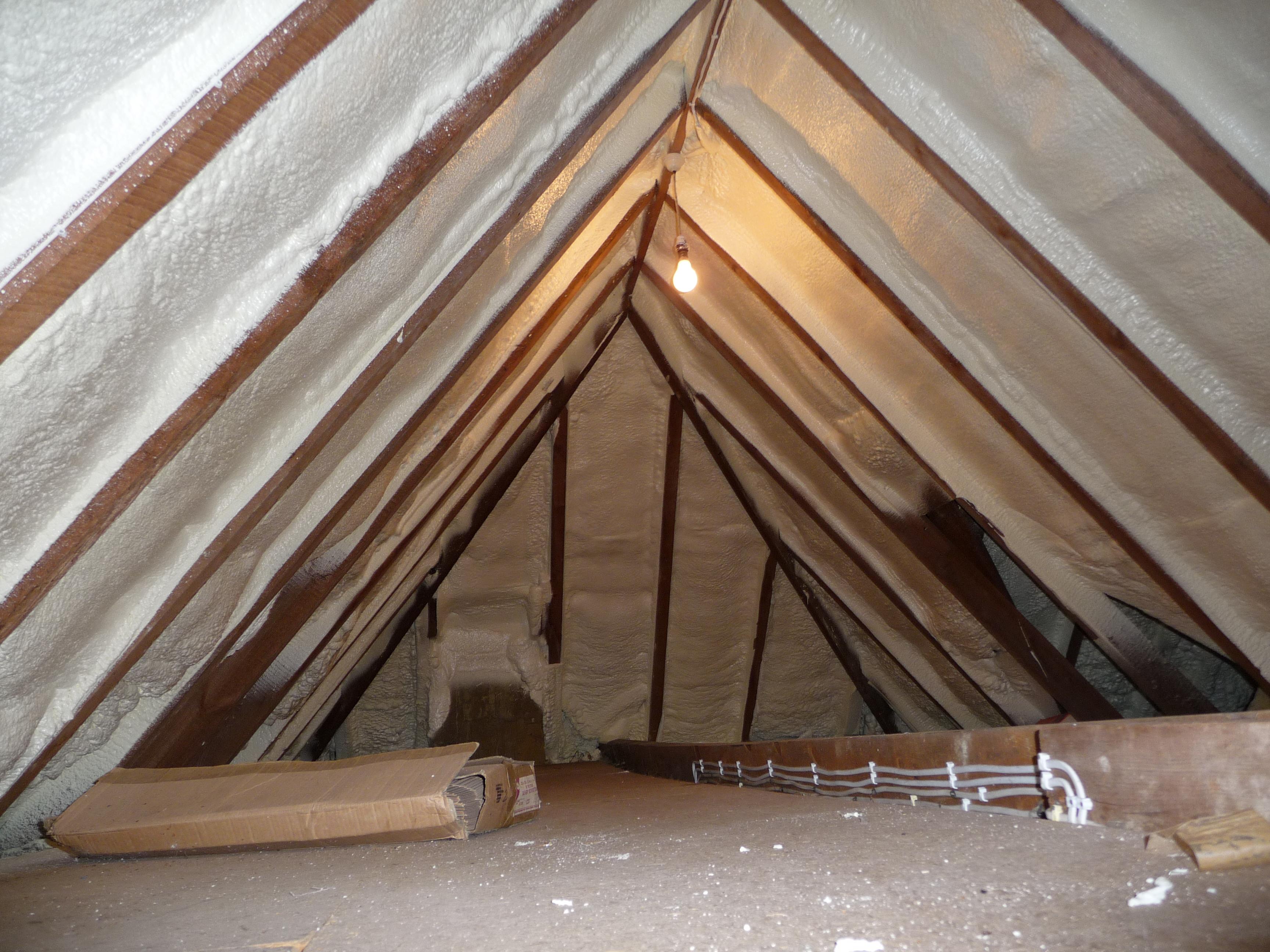 Domestic spray foam insulation